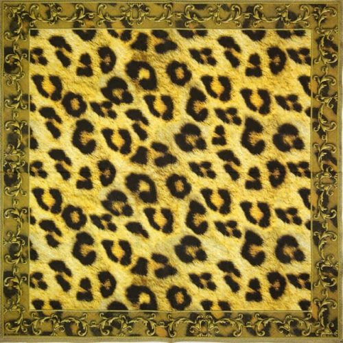Paper Napkin - Leopard Ornament