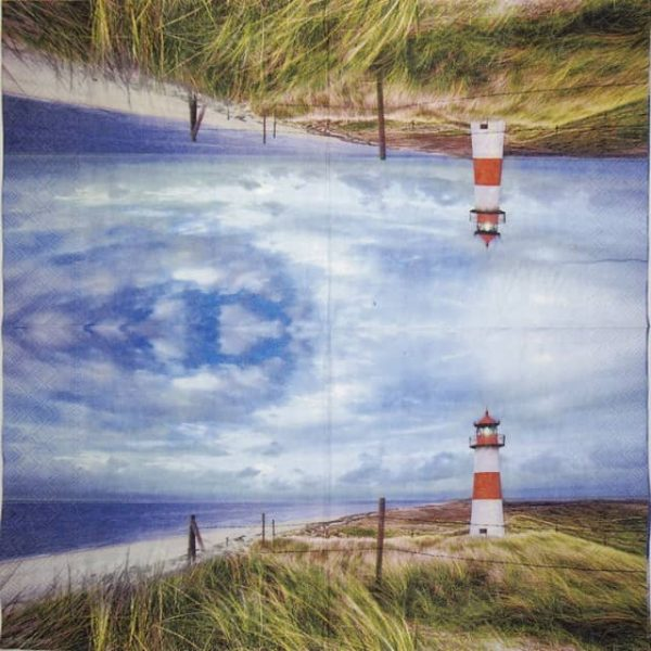 Paper Napkin - Lighthouse Sunset