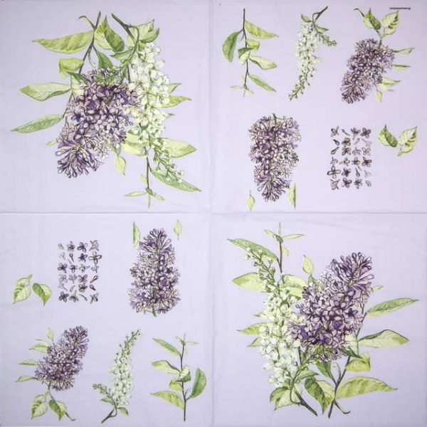 Lunch Napkins (20) - Lilac Lila