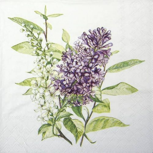 Cocktail Napkin - Lilac White