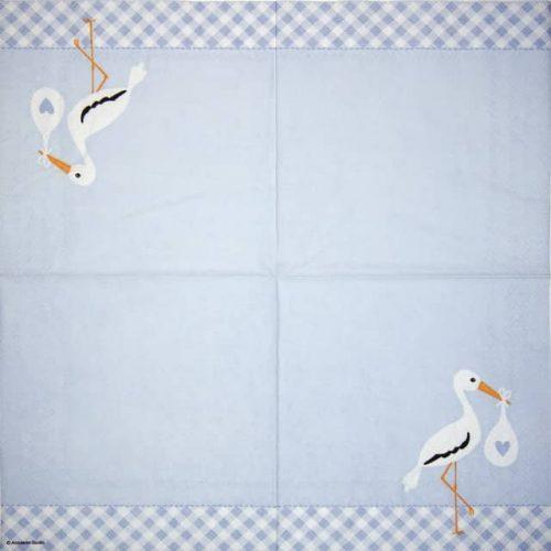 Paper Napkin - Love Stork blue