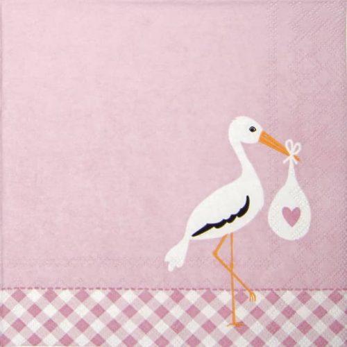 Paper Napkin - Love Stork pink