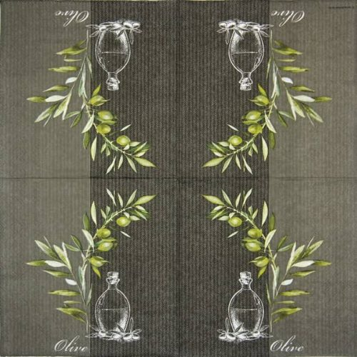 Cocktail Napkins (20) - Oil And Olives