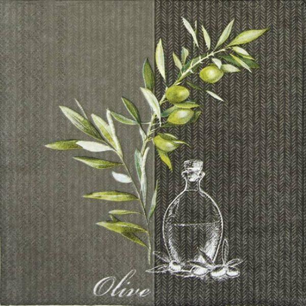 Cocktail Napkins (20) - Oil And Olives