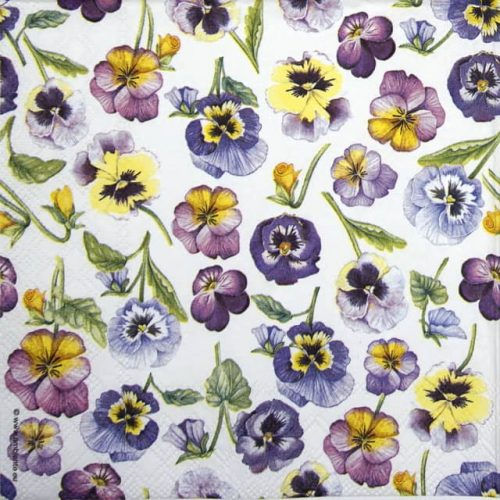 Cocktail Napkin - Pansy All Over