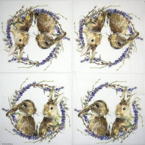 Lunch Napkins (20) - Rabbit Wreath