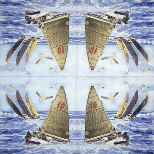 Lunch Napkins (20) - Sailboats