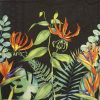 Lunch Napkins (20) - Tropical Floral Black