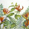 Lunch Napkins (20) - Tropical Floral White