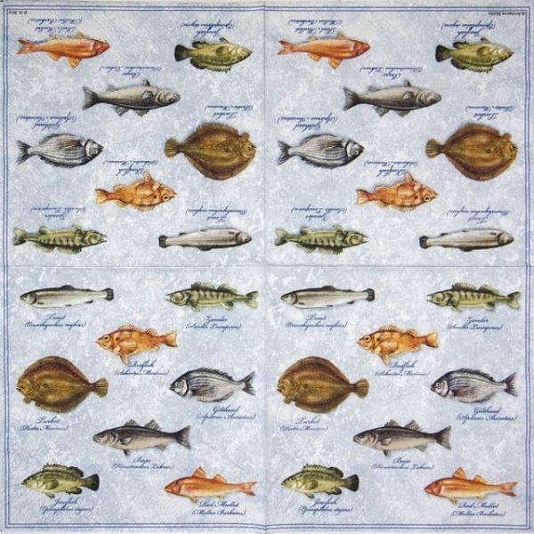 Paper Napkin - Fishes