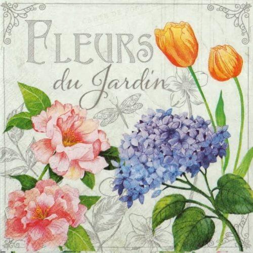 Lunch Napkins (20) - Fleurs de Jardin
