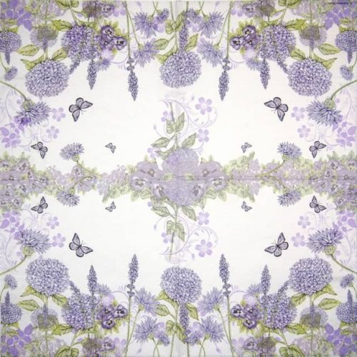 Paper Napkin -  Purple Wildflowers