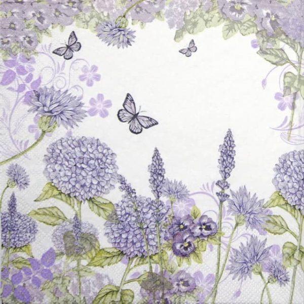 Cocktail Napkins (20) - Purple Wildflowers
