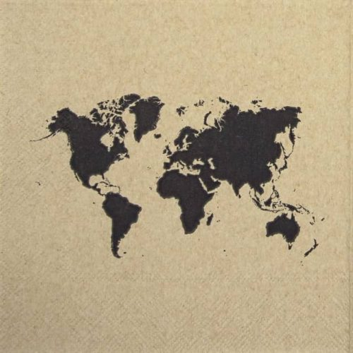 Paper Napkin - World Map