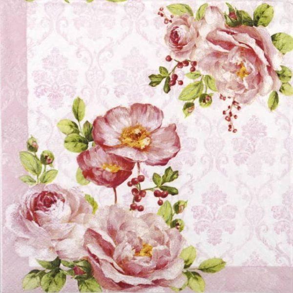 Paper Napkin - Floral Damask