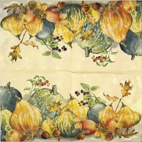 Paper Napkin - Painted Pumpkins