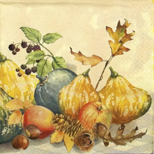 Lunch Napkins (20) - Painted Pumpkins
