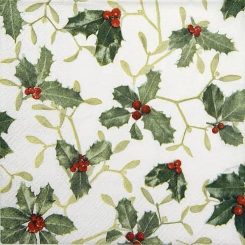 Cocktail Napkins (20) - Ilex and Mistletoe