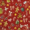 Cocktail Napkins (20) - Festive  Christmas Toys red