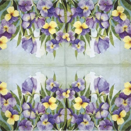 Cocktail Napkin - Violet Pansy