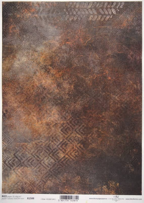 Rice Paper - Rusty Brown Wallpaper