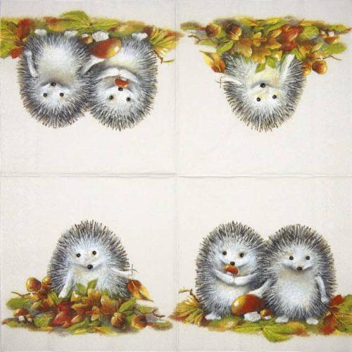 Paper Napkin - Welcome Little Friends Cream