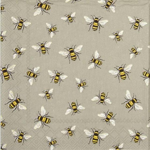 Paper Napkin - Lovely bees linen_IHR_861166