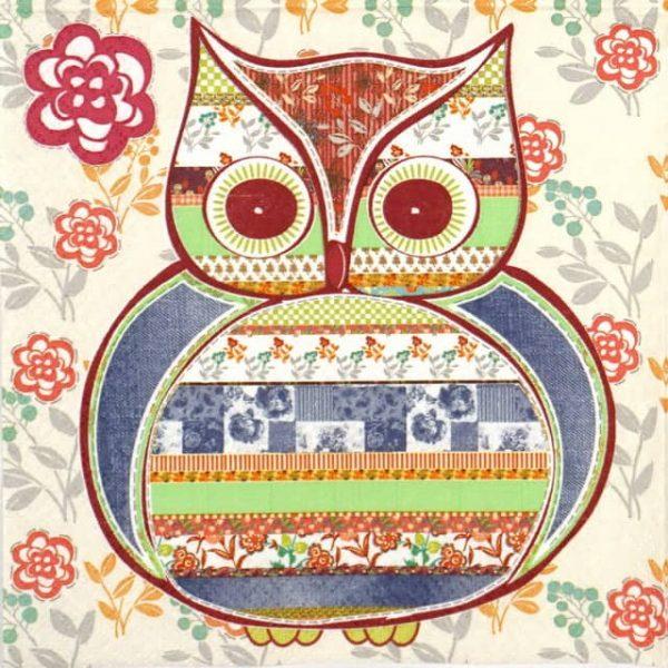Paper Napkin - Patterned Owl