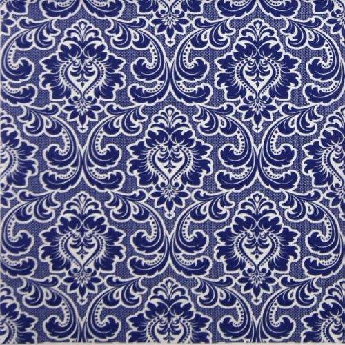 Lunch Napkins (20) - Wallpaper Pattern Warm Navy