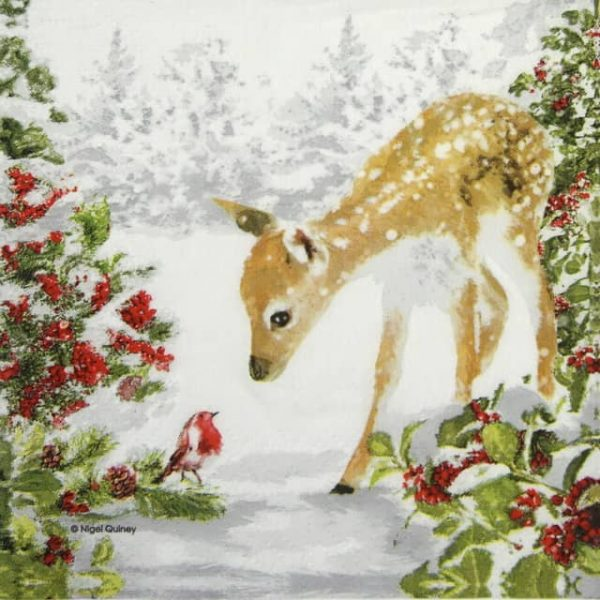 Lunch Napkins (20) - Nigel Quiney: Bambi