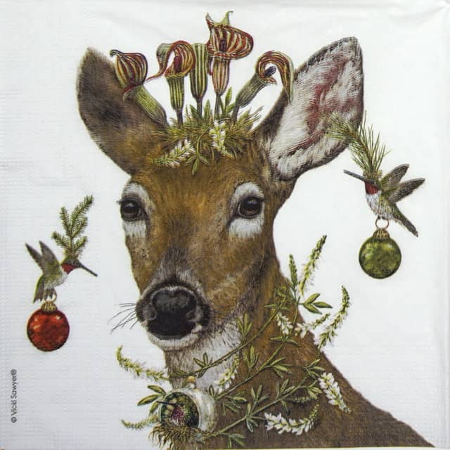 Lunch Napkins (20) - Vicki Sawyer: Party under Feeder (Copy)