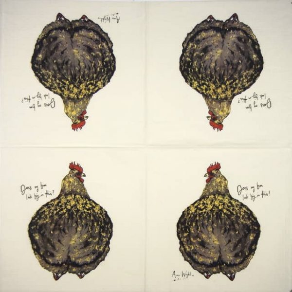 Lunch Napkins (20) - Anne Wrigh: Does my bum