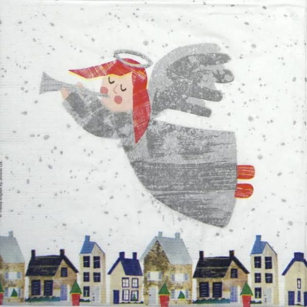 Paper Napkin - Tracey English: Silver Angel