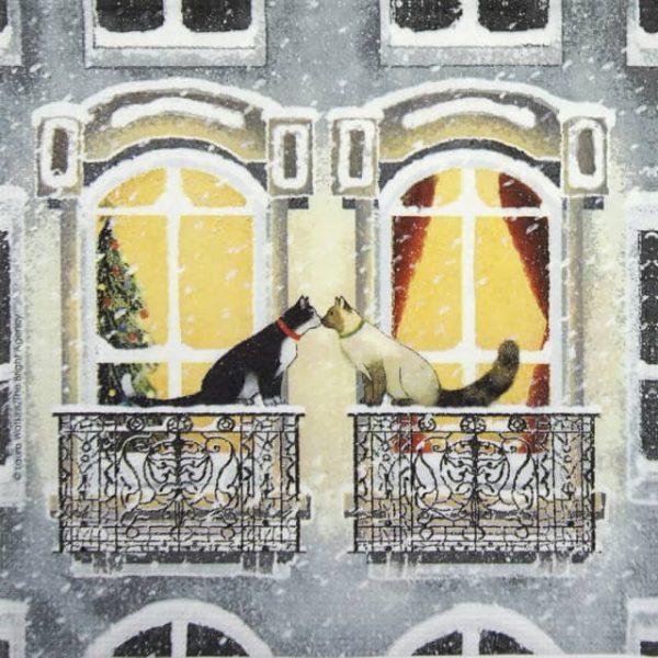 Paper Napkin - Laura Watkins: Townhouse Cats