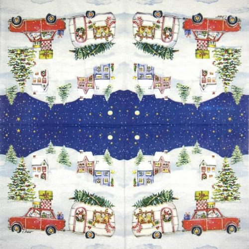 Lunch Napkins (20) - Carola Pabst: Christmas Car