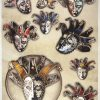 Rice Paper A/3 - Venetian masks