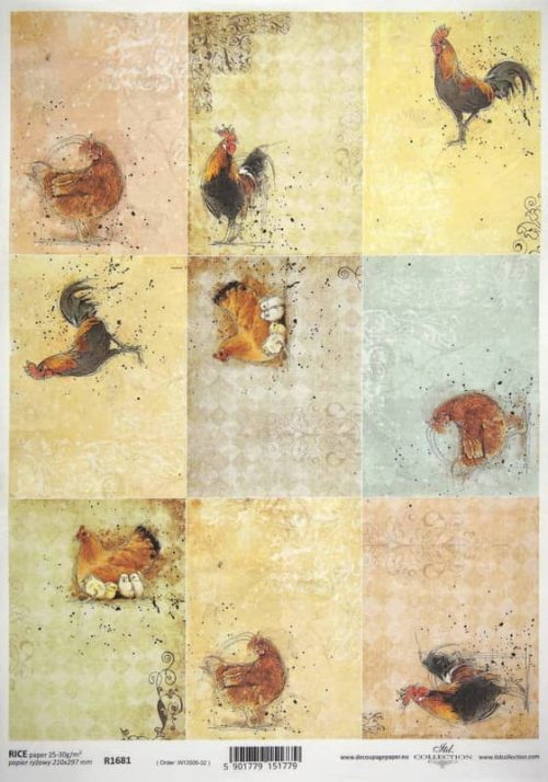 Rice Paper -  Animal Farm Cards: Chicks