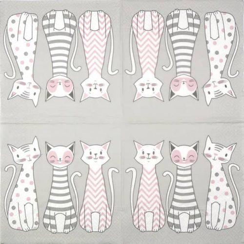 Paper Napkin - Glam Cats
