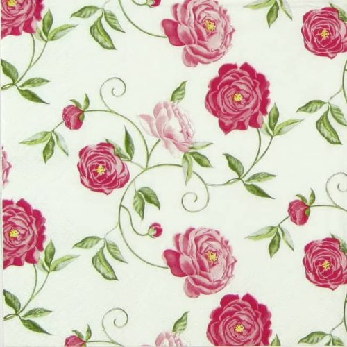 Paper Napkin - Peony Pink