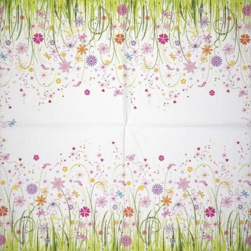Paper Napkin - Enchanted Floral Meadow