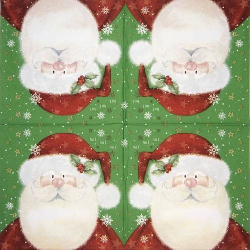 Lunch Napkins (20) - Saint Nick green