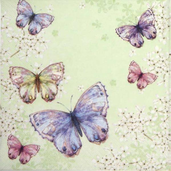 Paper Napkin - Bellissima Farfalla green