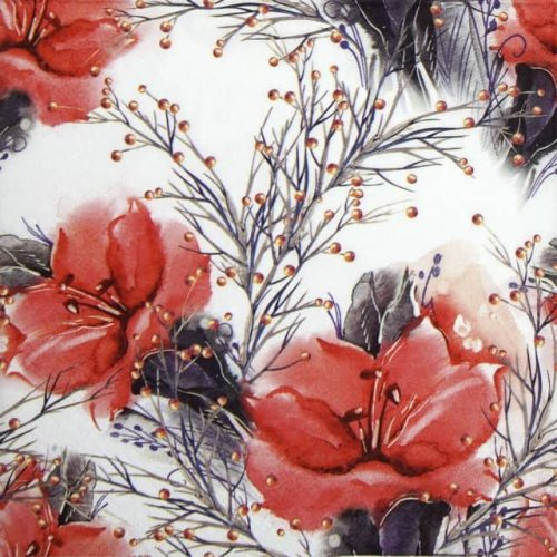 Lunch Napkins (20) - Two Amaryllis red