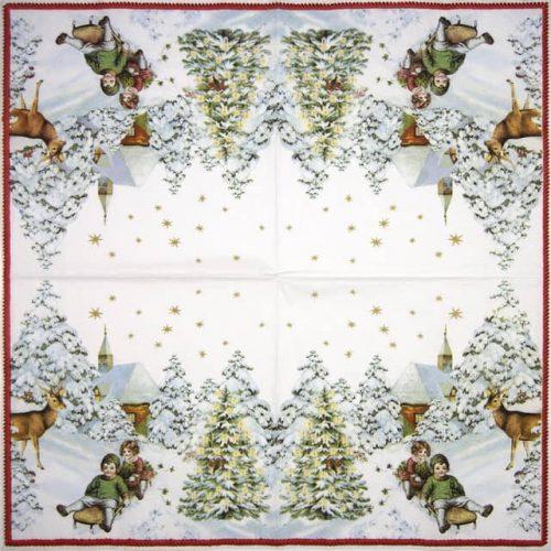 Cocktail Napkins (20) - Annual Christmas Snow