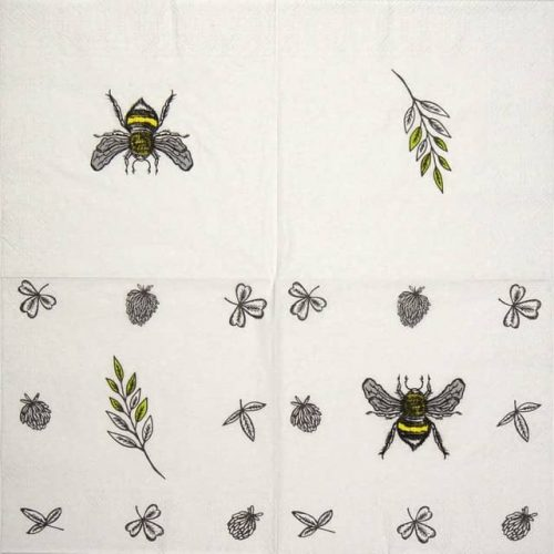 Cocktail Napkin - Bee Loved