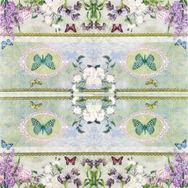 Paper Napkin - Butterfly Medaillon
