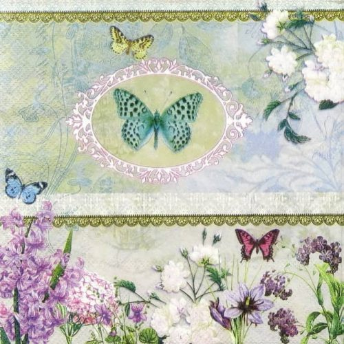 Paper Napkin - Butterfly Medaillon