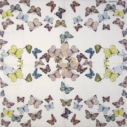 Paper Napkin - Butterfly White