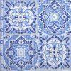 Lunch Napkins (20) - Tiles Blue