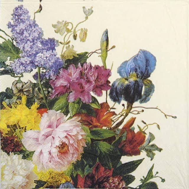 Paper Napkin - Still Life Bouquet Cream